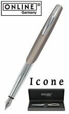 ONLINE Pens / Icone Stone (Grey) Fountain Pen #30208 / Gift Boxed