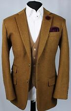 Hand Made Bespoke Blazer Jacket Country Wool & Cashmere 40R EXCEPTIONAL 352