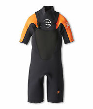 Billabong Youth 202 Foil Fl Chest Zip Spring Suit Wetsuit Size 16 (Boy's) NWT