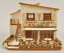 A House With Cafe / Wooden model kit / youngmodeler