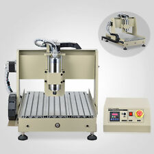 Desktop cnc 4 axis 3040 ballscrew router milling machine kit water controller US