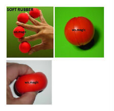 Multiplying Billiard Balls (Soft Rubber) Red 5cm Magic Trick Party Show Stage DD