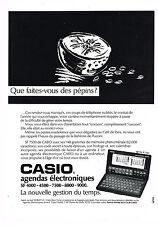 PUBLICITE ADVERTISING 1991   CASIO    agendas éléctroniques               290713