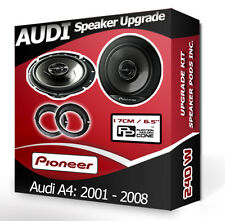 Audi A4 Front Door speakers Pioneer car speaker kit + adapter rings pods 240W