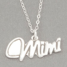 """MIMI Charm Grandmother Love Pendant  925 STERLING SILVER 18"""" chain Necklace"""