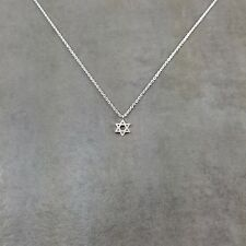 Star of David Silver Necklace in Gift Box Shield Jewish Zionist Jew Hexagram