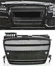 FRONT BLACK GRILL FOR AUDI A4 B7 8E 04-08 RS4 LOOK SPOILER BODY KIT NEW GRIGLIA