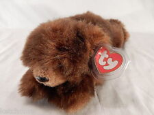 TY Beanie  Retired Brown  BABY PAWS Fine Hang Tag w/ Protector  Smoke Free Home