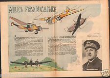 WWII Aviation Avion Général Vuillemin Forces Aériennes France 1939 ILLUSTRATION