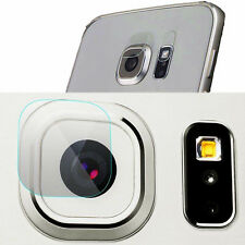 Back Camera Lens +Flash Tempered Glass Protector Film For Samsung S6 Edge Plus