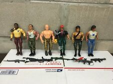 Vintage Rambo Figure Lot Of 6 With Some Weapons