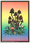 POSTER :ART: TRIPIN ! - MUSHROOMS - BLACK LITE FREE SHIPPING - #FPO284 LW19 F