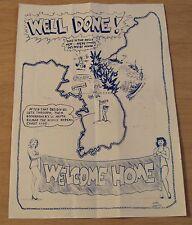 "RARE 1951 Korean War US Navy Brochure~""WELCOME HOME"" Destroyer Division 81~GIRLS"