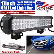 17INCH 108W CREE Led Light Bar Flood Spot Work Driving Fog Offroad 4WD Truck ATV