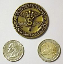 United States Army Hospital, Medical Specialist Corps Challenge Coin.