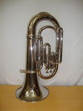 "Bb Pitch Euphonium 3 Valve Nickel Plated For""Sale""With Free CarryBag"