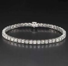 4ct Natural Round Cut Diamond Tennis Bracelet - 14k White Gold
