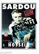 PUBLICITE ADVERTISING 116  1989  Michel Sardou  concert à Bercy  & Radio RTL