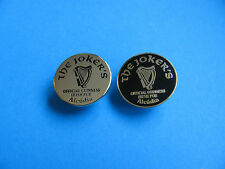 2, Guinness Pin Badges, THE JOKER'S Official Guinness Irish Pub. Jokers.