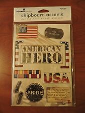 Chipboard Accents Dimensional Embellishments American Hero Military Scrapbooking