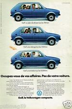 Publicité advertising 1975 VW Volkswagen Golf