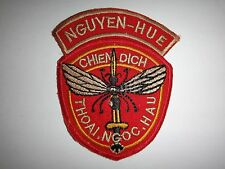 ARVN Mosquito Operations NGUYEN HUE And THOAI NGOC HAU Vietnam War Patch
