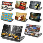 15.4 Laptop Skin Cover Sticker Decal Leather Effect -NEW DESIGNS- Made in the UK