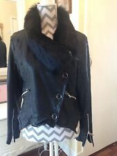 Karen Millen Leather Jacket size 16