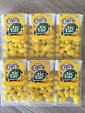 Set of 6 Despicable Me Minion Limited Edition Tic Tac Bob Candy New FREE SHIP,