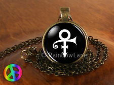 Prince RIP Ankh Sign Symbol Logo Purple Rain Necklace Pendant Charm Jewelry Gift