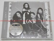 New f(x) 4 Walls COWBOY First Press Regular Edition CD Trading Card Japan F/S