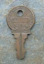 Antique Brass Key  # MK 400  King Lock Company of Chicago
