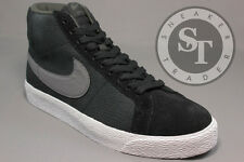 NIKE BLAZER SB PREMIUM SE 631042-004 BLACK METALLIC DARK GREY SEQUOIA SIZE: 12