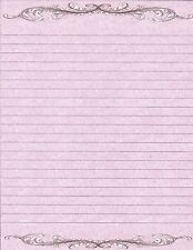 Classic Design Fine Lined Writing Paper Set with 25 sheets and 10 envelopes