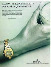 Publicité Advertising 1984 La Montre Seamaster Titane Omega
