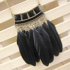 1Pc Fashion Vintage Female Sweater Chain Jewelry Accessories Feather Necklace