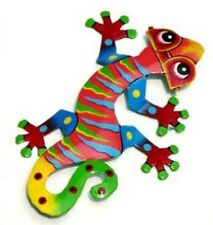 The Coolest Little Gecko Ever w/ Sunglasses Recycled Metal Wall Garden Art