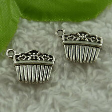 free ship 180 pieces tibet silver comb charms 18x13mm #2956