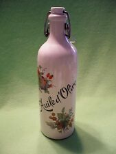 Vintage stoneware French ' Huile de Olive '  olive oil bottle with swing top cap