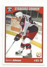 2004-05 Syracuse Crunch (AHL) Aaron Johnson (Adler Mannheim)