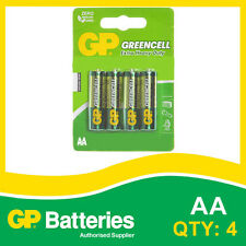 GP Greencell AA card of 4 Batteries [ALARM CLOCK, SMOKE ALARM + OTHERS]