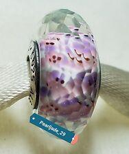 791608 Shoreline Sea glass Pandora Charm Sterling Silver S925 ALE, Murano Glass