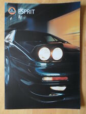 LOTUS Esprit V8-GT & V8-SE orig 2000 UK and Euro Mkts sales brochure