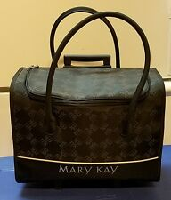 MARY KAY Consultant Rolling Organizer Case Luggage Bag Carrier Large Black.