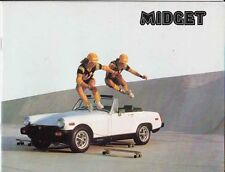 1978 MG MIDGET US Brochure 1500 Engine Rubber Bumpers