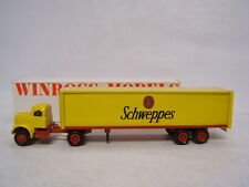 Winross Yellow Schweppes  White 9000 Cab Tractor Trailer MIB