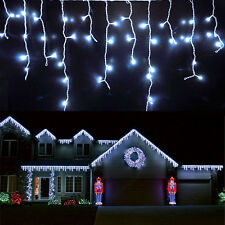96-1000 LED Fairy String Outdoor Xmas Party Icicle Curtain Lights Plug Connected