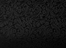 Seide blumenornament schwarz 110 cm breit Meterware
