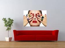 SALON SPA HEALTH BEAUTY NAILS MANICURE GIANT ART PRINT PANEL POSTER NOR0334