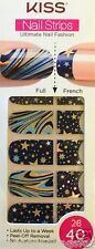 Kiss Nail Stick on Appliques French or Full 40 Strips # DMT 603 Solar System HTF